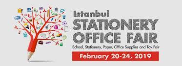 Изложение заканцеларски и офис принадлежности иматериали-20-24 февруари 2019 г. в Истанбул,Турция,организирано от Tüyap