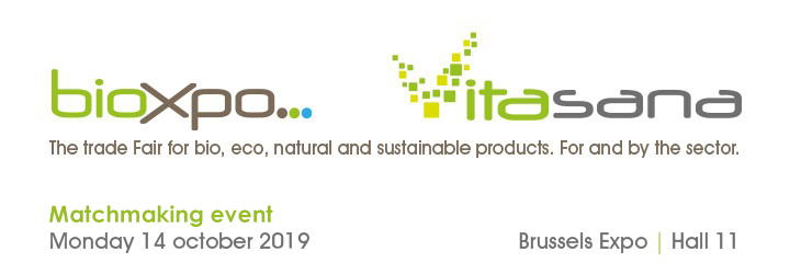 """Участвайте в B2B срещи по време на международно изложожение за био-храни """"BioXpo VitaSana"""" в Брюксел на 13 и14 октомври."""