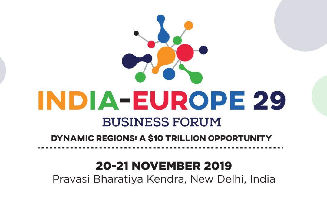 """Покана за делово посещение в Индия и бизнес форум """"Индия – Европа 29"""""""